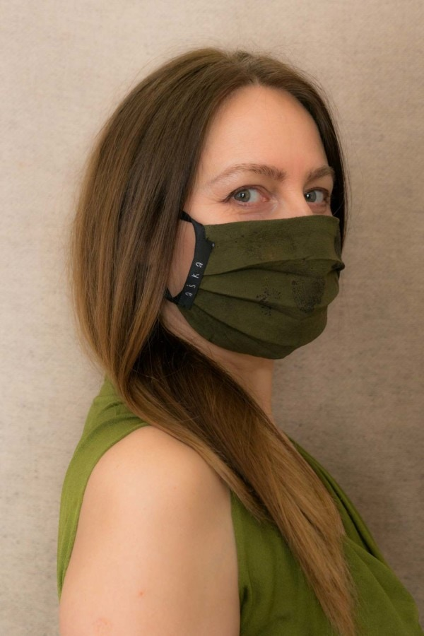 FOREST2 Protective mask in organic eco print cotton - 3