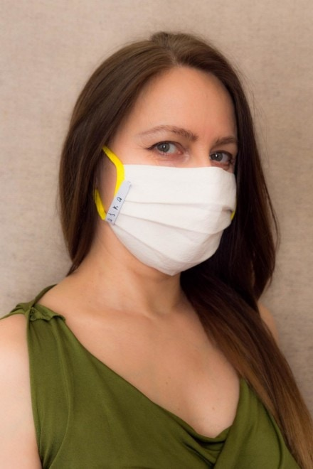 YELLOW Protective mask in organic cotton 1