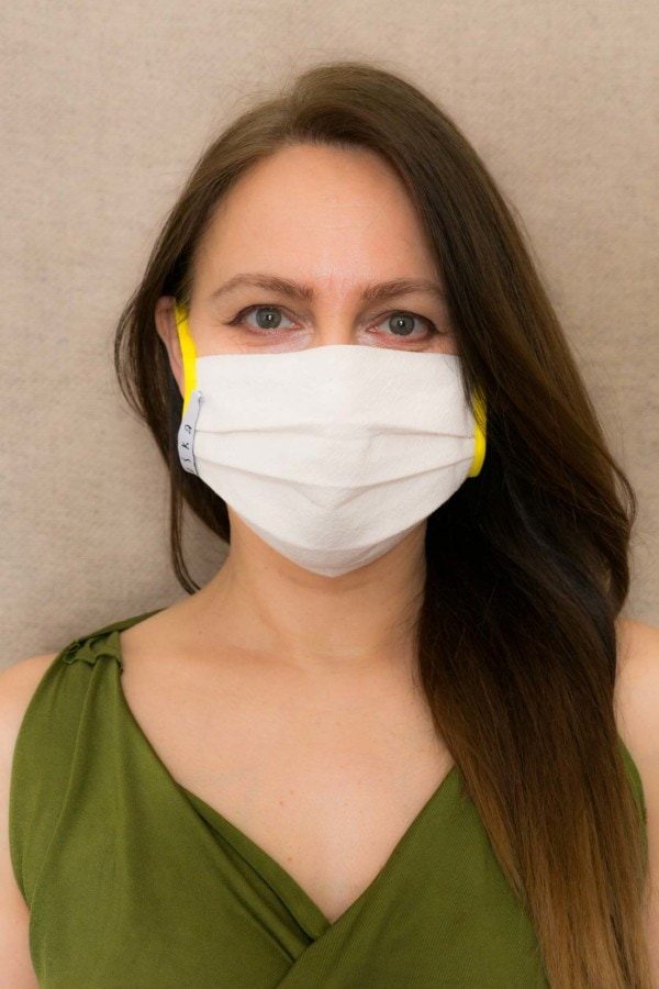 YELLOW Protective mask in organic cotton 2