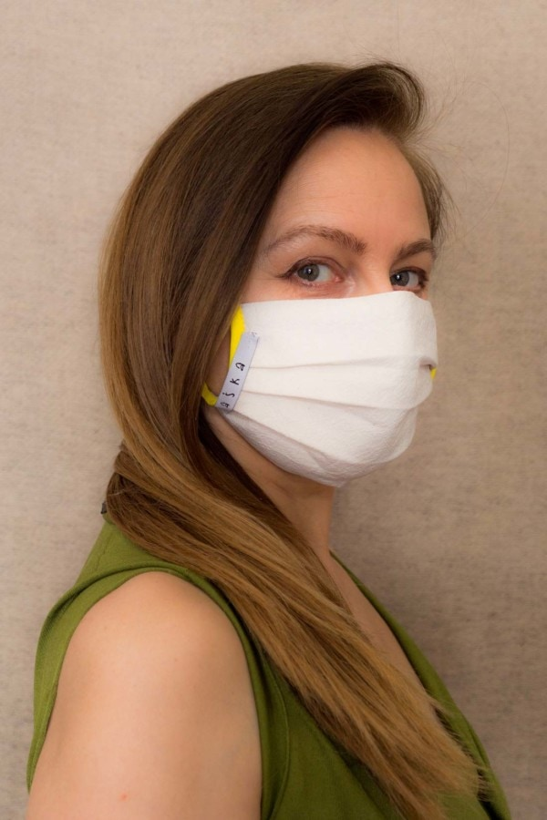 YELLOW Protective mask in organic cotton 4