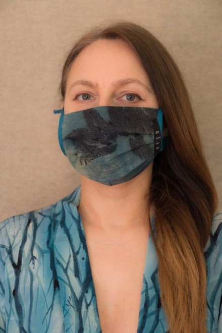 BLUE LAGOON organic cotton eco printed protective mask - 1