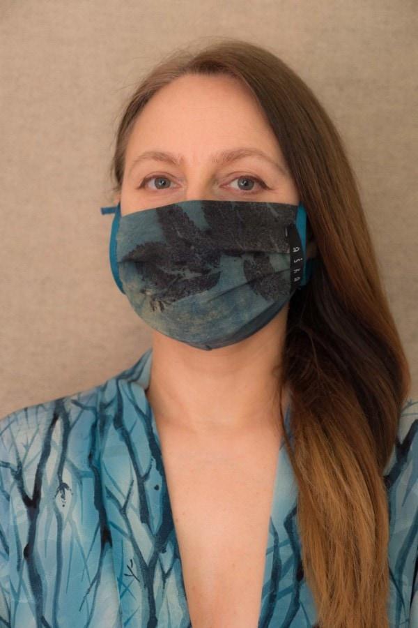 BLUE LAGOON organic cotton eco printed protective mask - 1