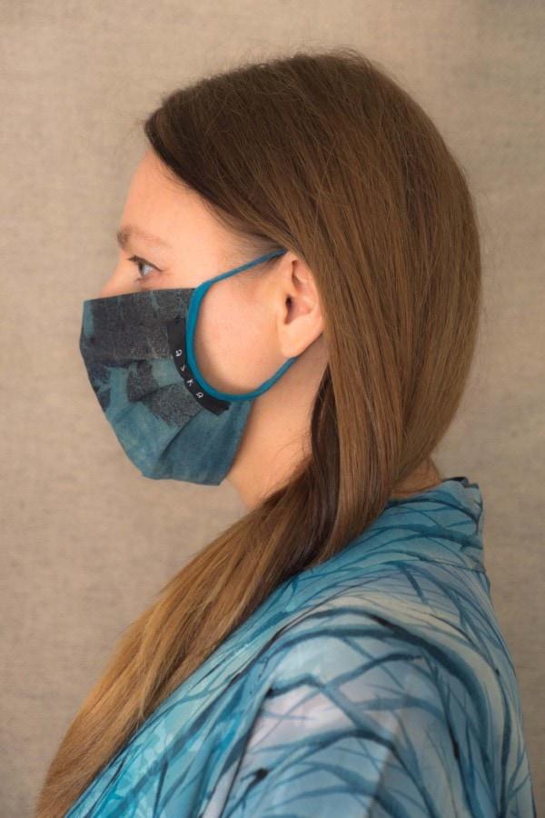 BLUE LAGOON organic cotton eco printed protective mask - 3