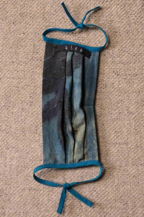 BLUE LAGOON organic cotton eco printed protective mask - 4