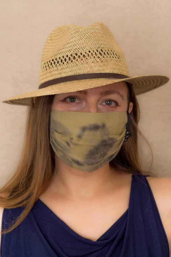 SAVANE Protective mask in eco print organic cotton - 2