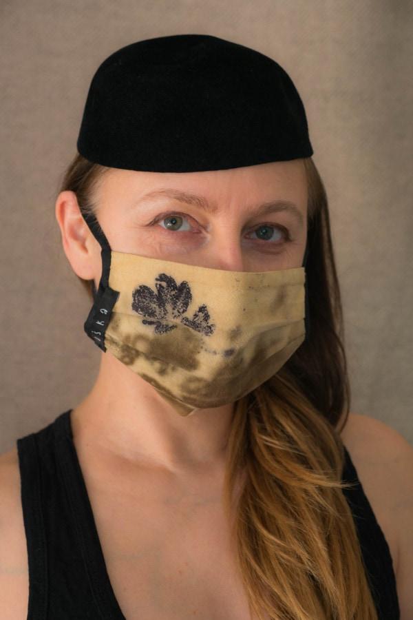 VEGETAL Masque de protection en- coton bio eco print - 2