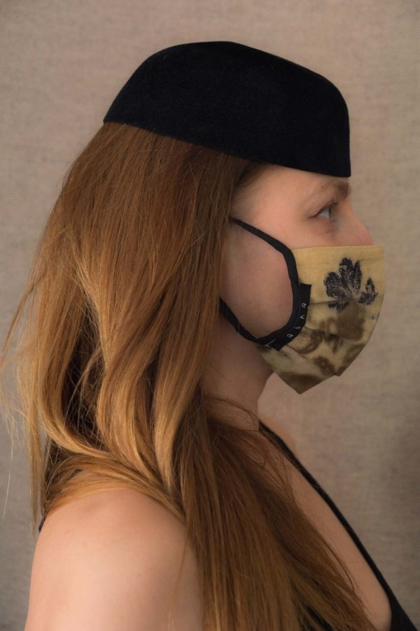 VEGETAL Masque de protection en- coton bio eco print - 3