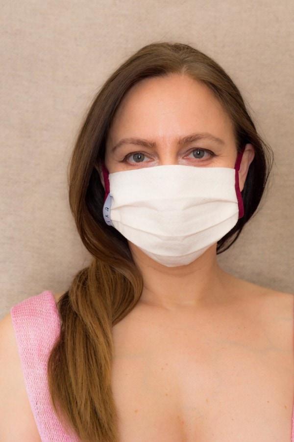BORDEAUX Organic cotton barrier mask - 1