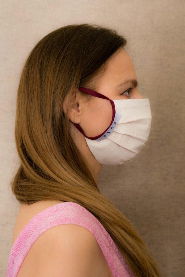 BORDEAUX Masque barrière en coton bio - 2