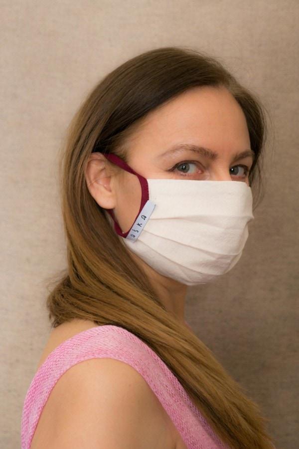 BORDEAUX Masque barrière en coton bio - 3