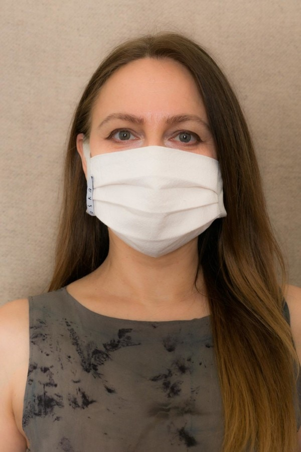 GRAY-SILVER Barrier mask in organic cotton - 1
