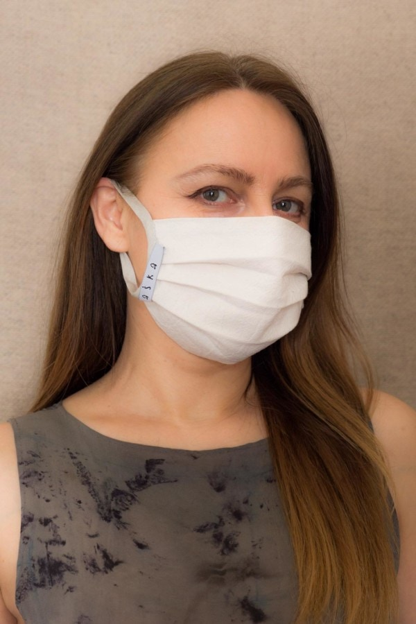 GRAY-SILVER Barrier mask in organic cotton - 2