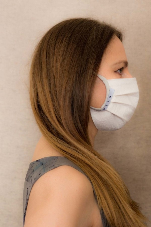 GRAY-SILVER Barrier mask in organic cotton - 3