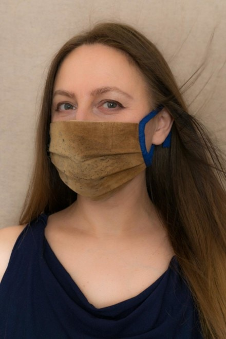 SAHARA Barrier mask in eco print organic cotton - 1