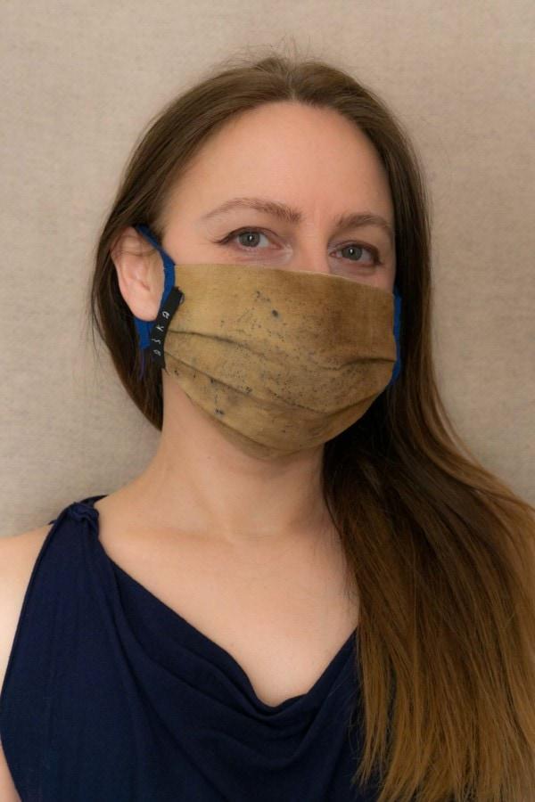 SAHARA Barrier mask in organic cotton eco print - 2