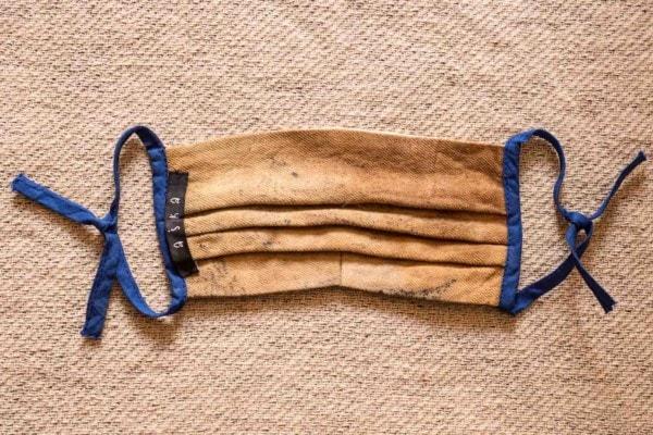 SAHARA Masque barriére en coton bio eco print - 4