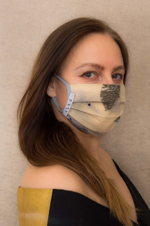 TUNDRA Protective mask in eco print organic cotton - 2