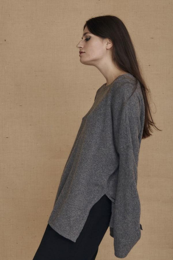 Gray ALASKA oversized wool sweater - 3