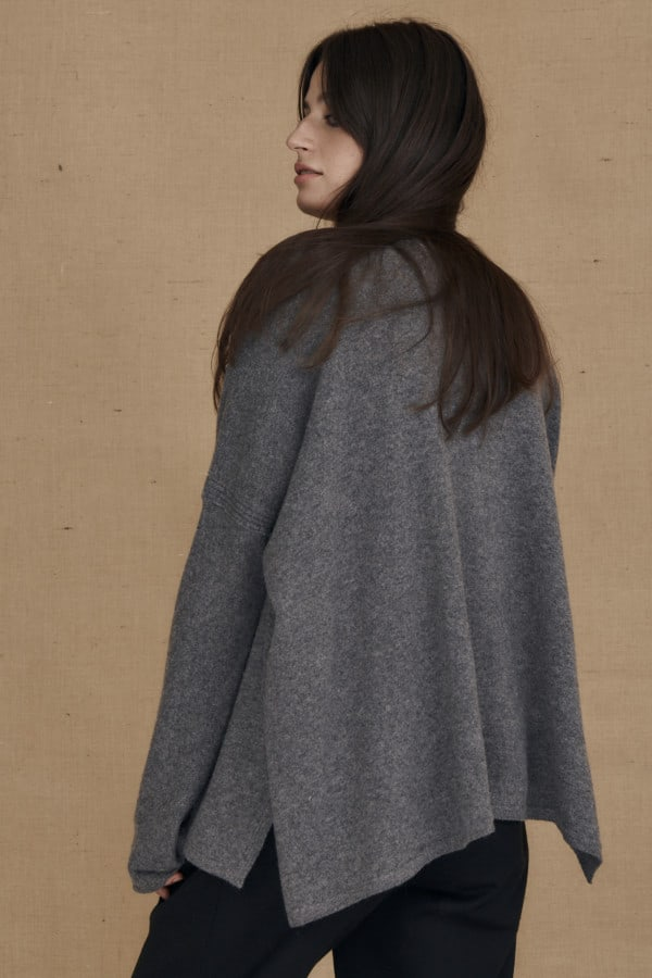 Gray ALASKA oversized wool sweater - 4