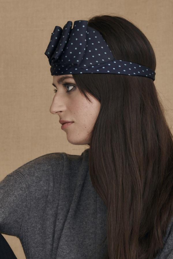 GRETA fancy blue headband - 3