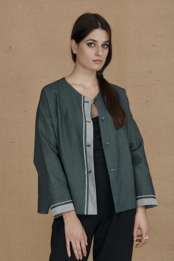 Wide denim jacket JAMES - 1