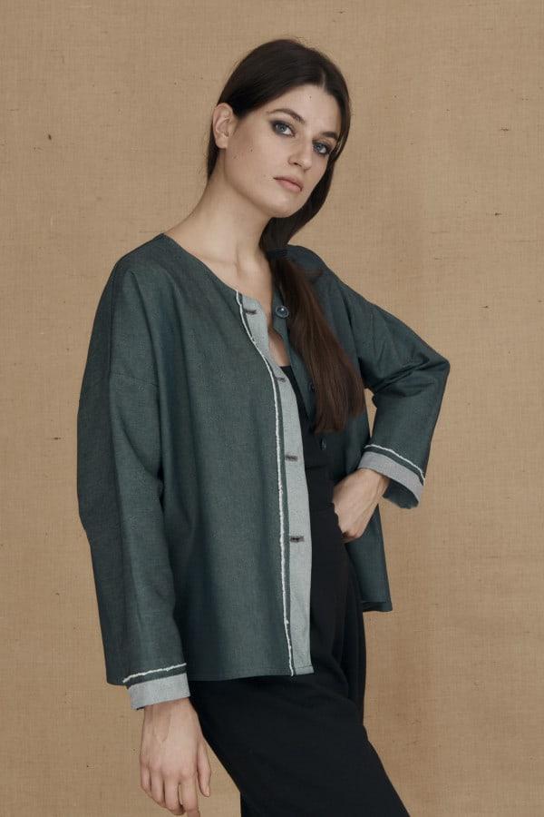 Wide denim jacket JAMES - 2