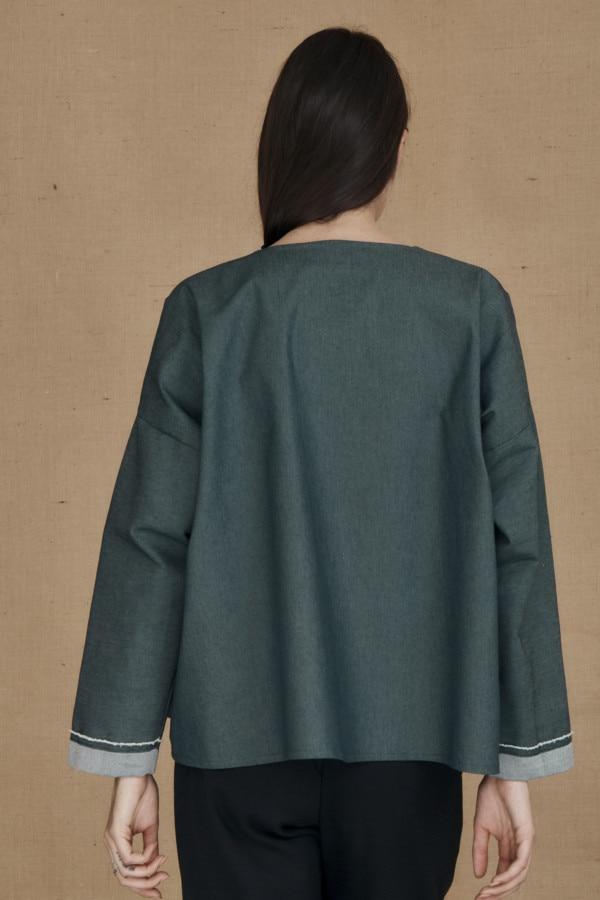 Wide denim jacket JAMES - 3