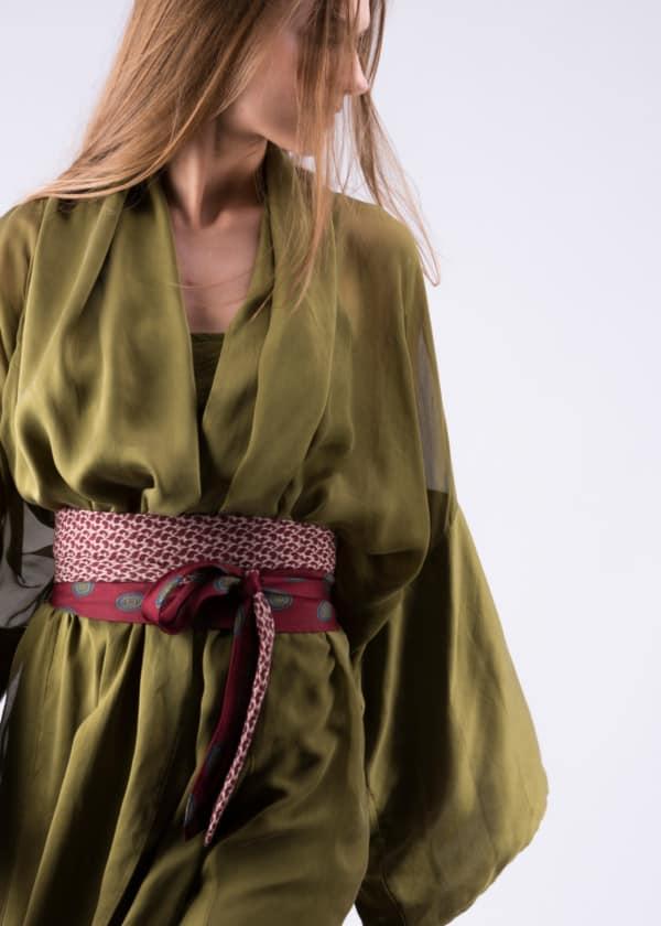 tie-belt burgundy - 1