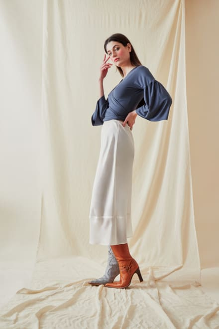 A-line midi skirt MILOS White - 2