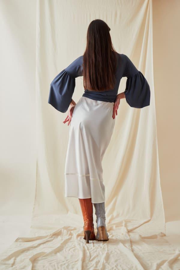 A-line midi skirt MILOS White - 3