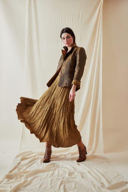 Festive Flared Mid-Length Skirt LIPSI Gold-Bronze - 1