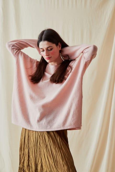 Pull en laine oversize ALA Rose Pale - 1