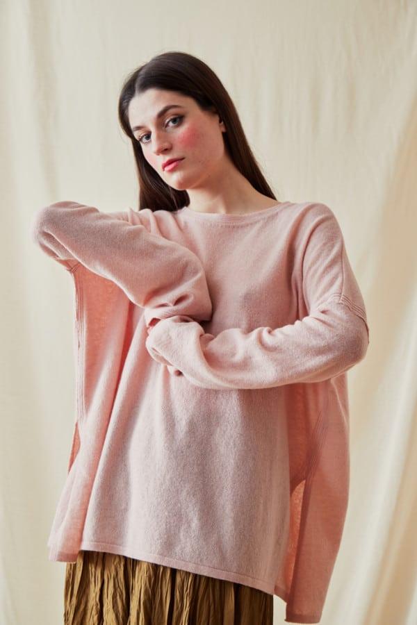 Pull en laine oversize ALA Rose Pale - 2