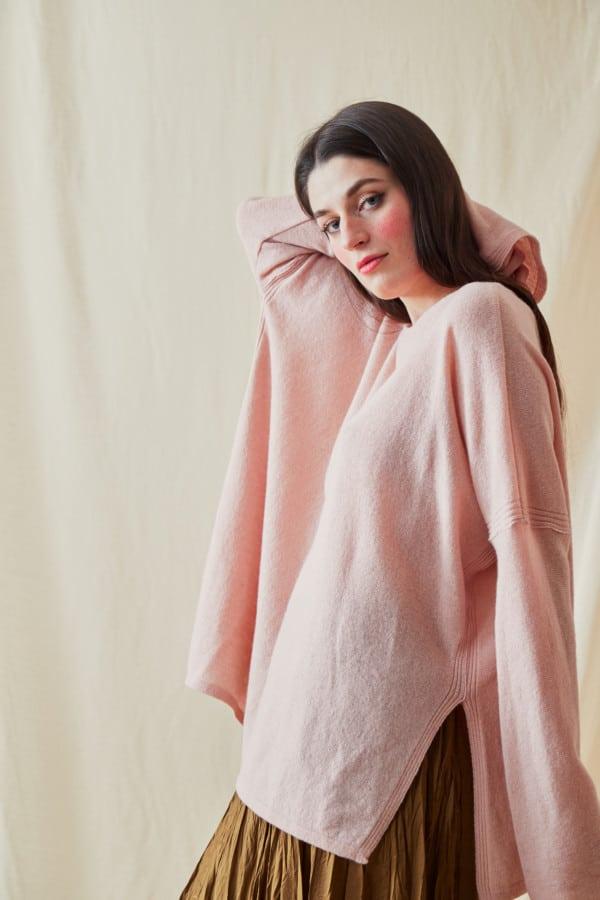 Pull en laine oversize ALA Rose Pale - 3