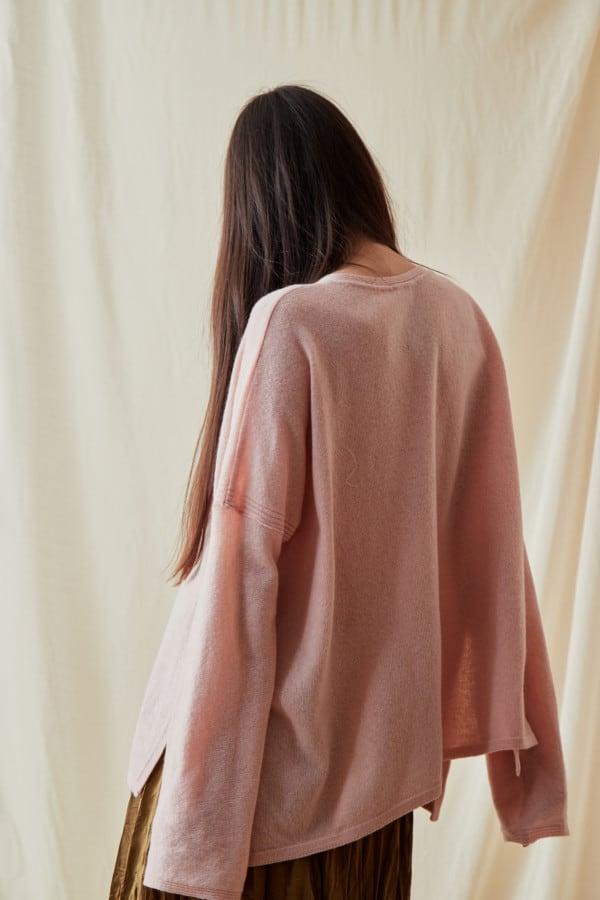 Pull en laine oversize ALA Rose Pale - 4