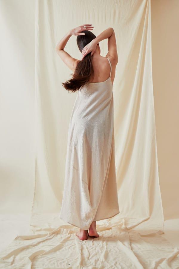 Loose organic cotton dress CALA White - 4