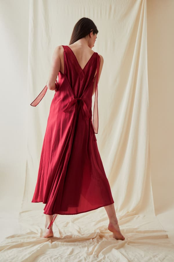 Long flared dress RIAMA Red - 6