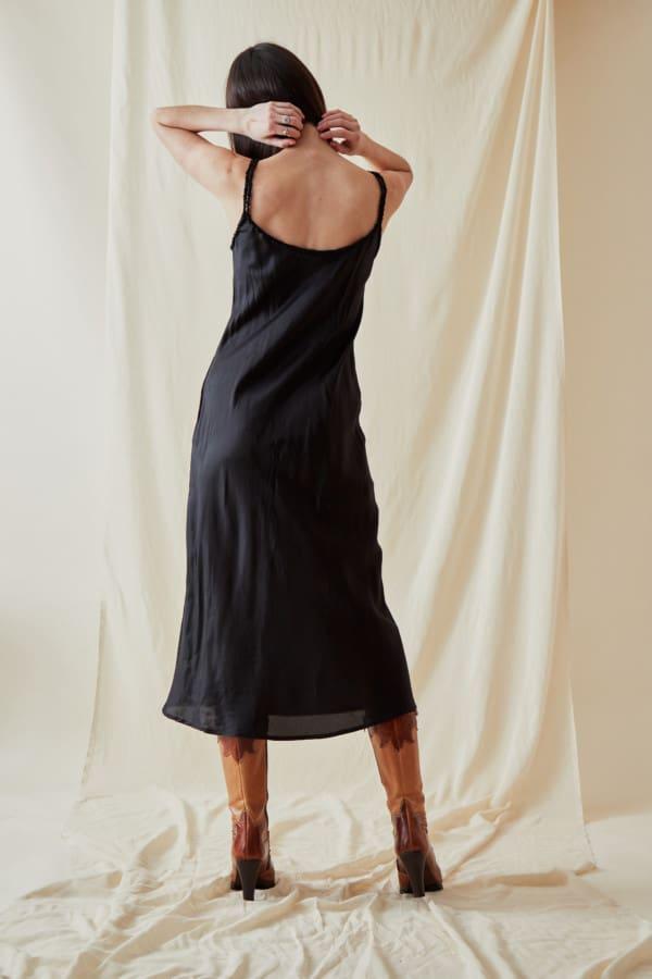 Mid-length viscose slip dress DIA Black - 3
