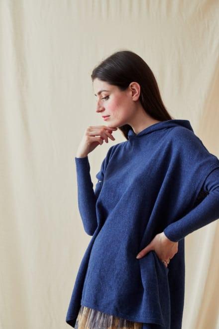 Wool hoodie sweatshirt IBIZA Blue-Jeans - 3