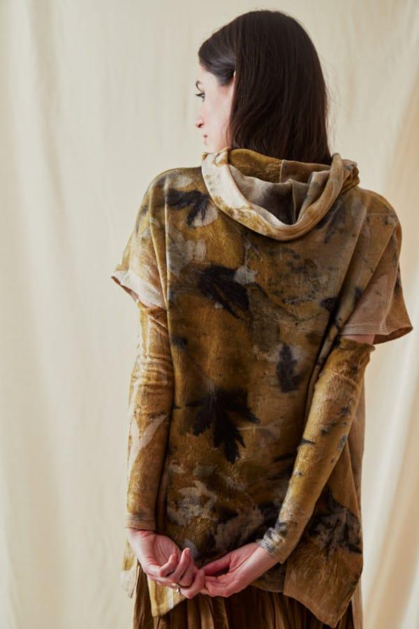 Sweat-shirt a capuche en laine eco-print MYCONOS - 4