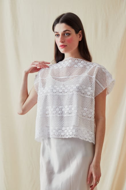 Vintage lace top SYMI White- 1
