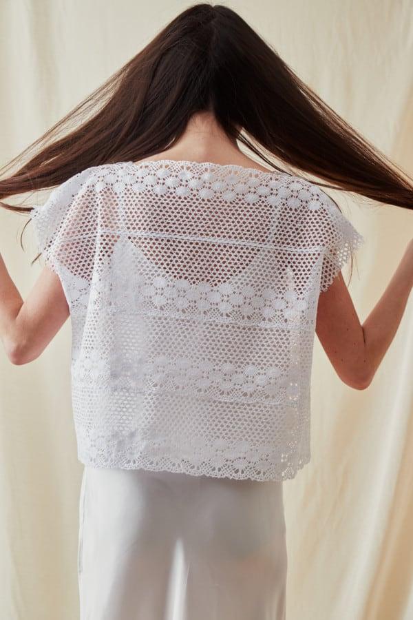 Vintage lace top SYMI White - 3
