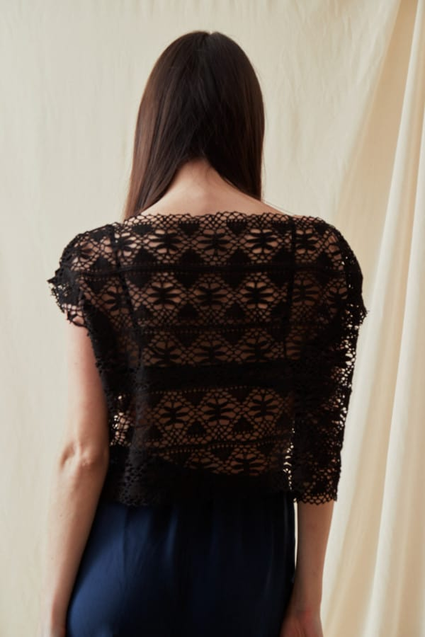 Vintage lace top SYMI Black - 3