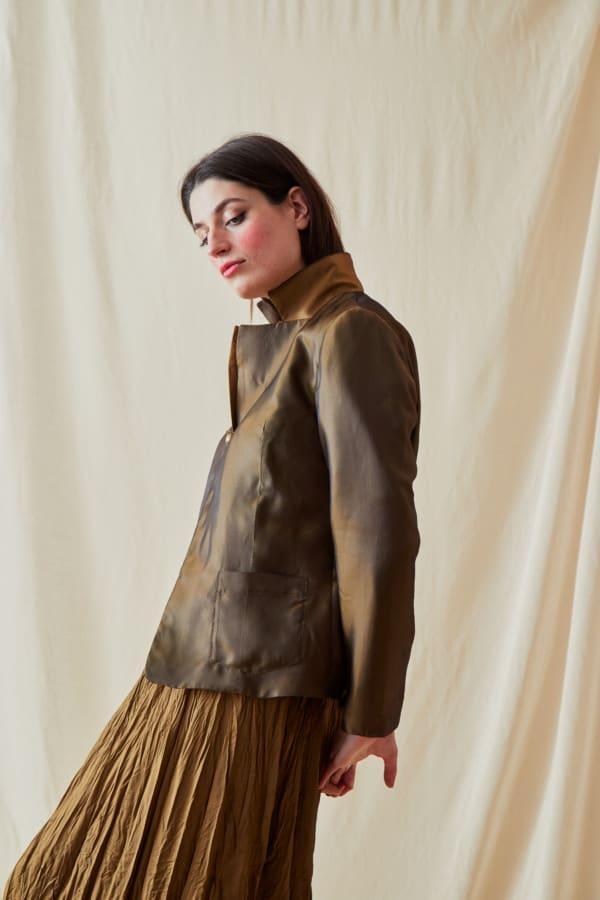 Reversible fleece jacket AGIA Bronze-Gold - 2