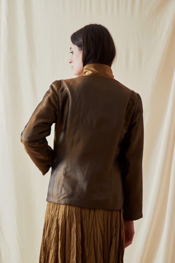 Reversible fleece jacket AGIA Bronze-Gold - 3