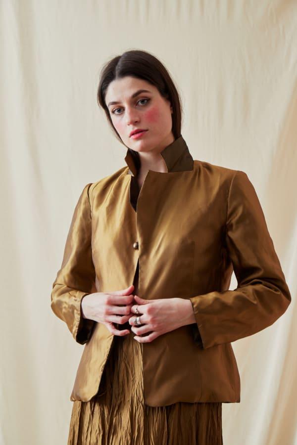 Reversible fleece jacket AGIA Bronze-Gold - 5
