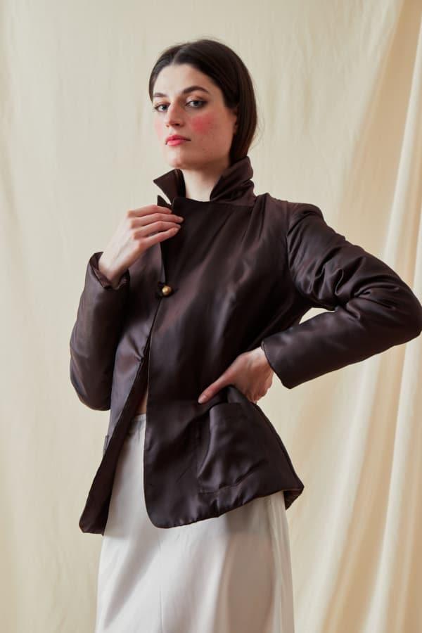 Reversible fleece jacket AGIA Brown-Chocolate - 1