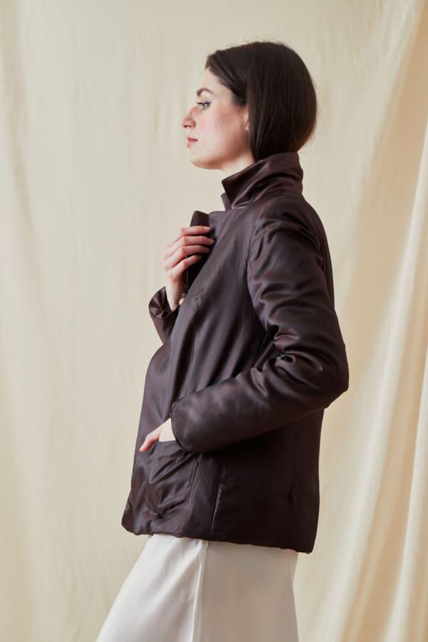 Reversible fleece jacket AGIA Brown-Chocolate - 2