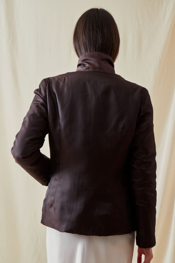 Reversible fleece jacket AGIA Brown-Chocolate - 3
