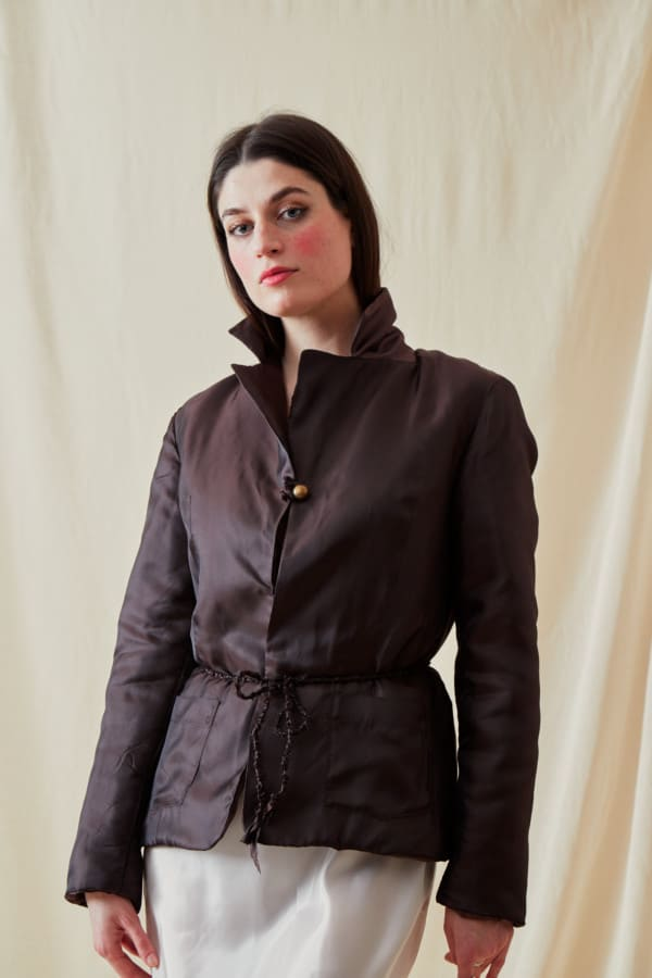 Reversible fleece jacket AGIA Brown-Chocolate - 4